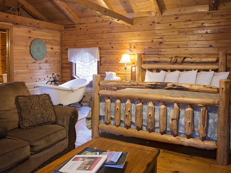 Another view of the cabin's beautiful living / sleeping area