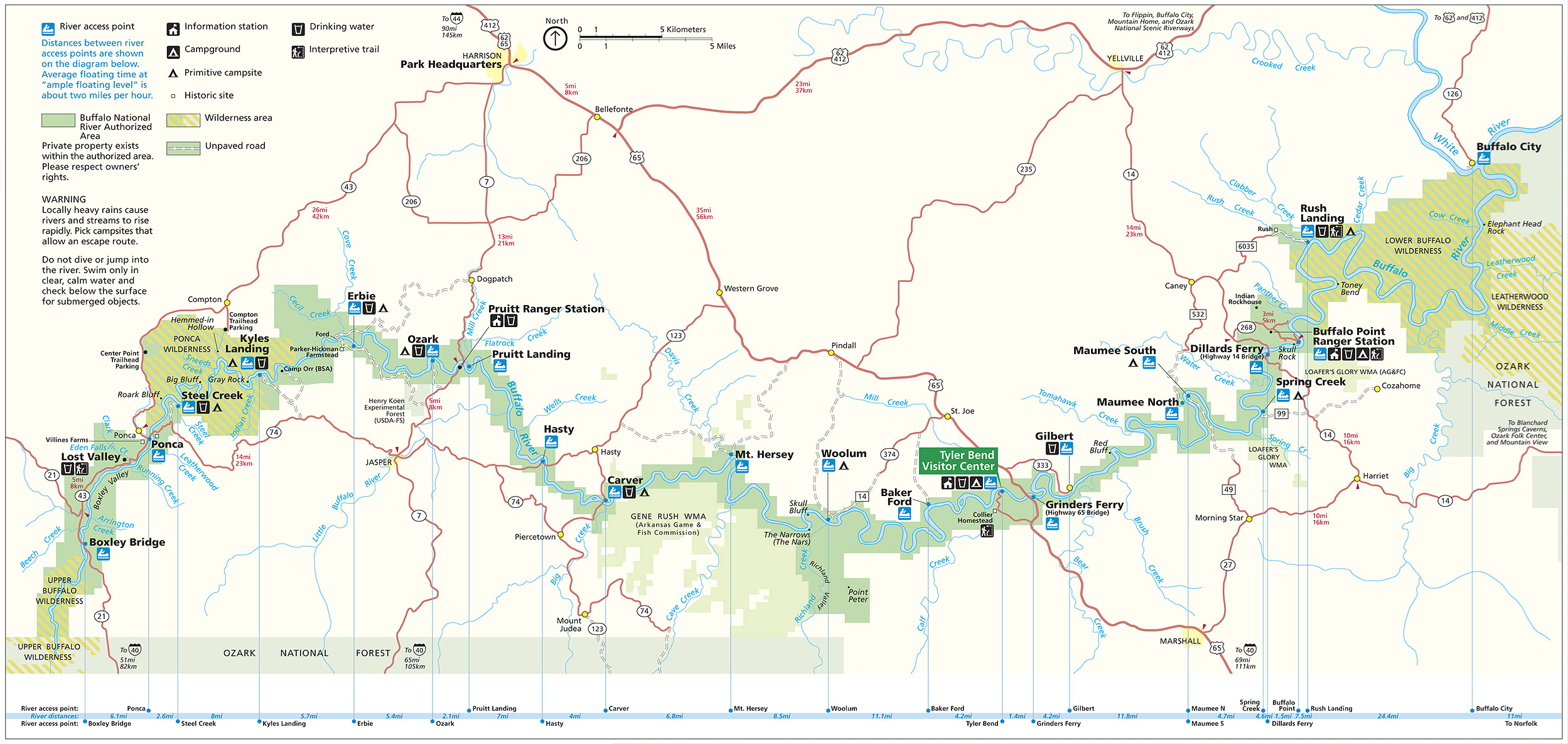 Buffalo National River Map | Download Trail Maps | Buffalo National ...