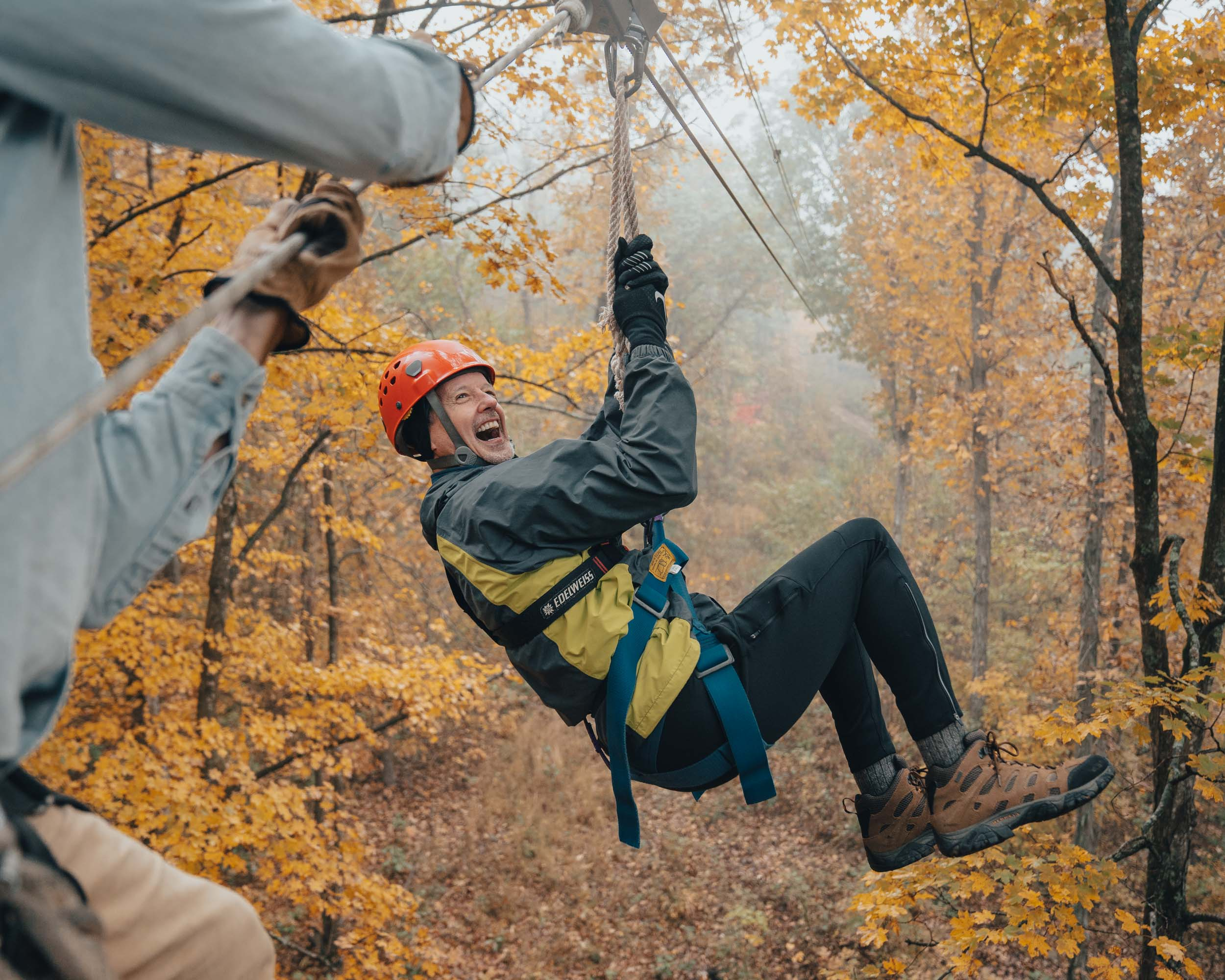 Fall on the BOC Canopy Tour zipline