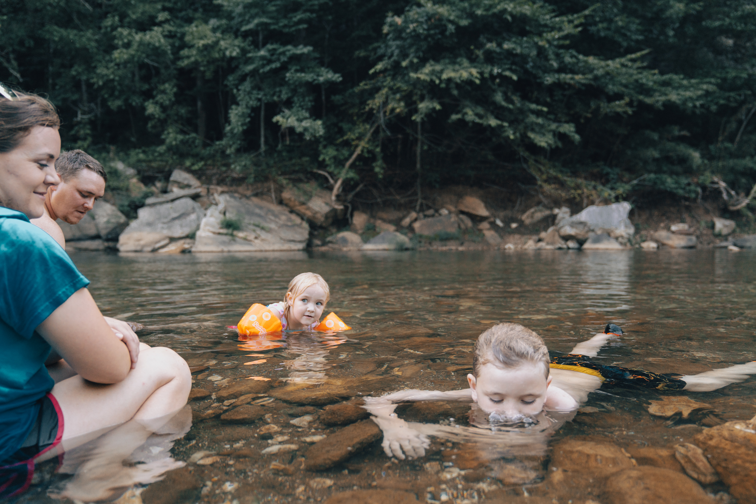 Swimming Hole at Steel Creek Campground