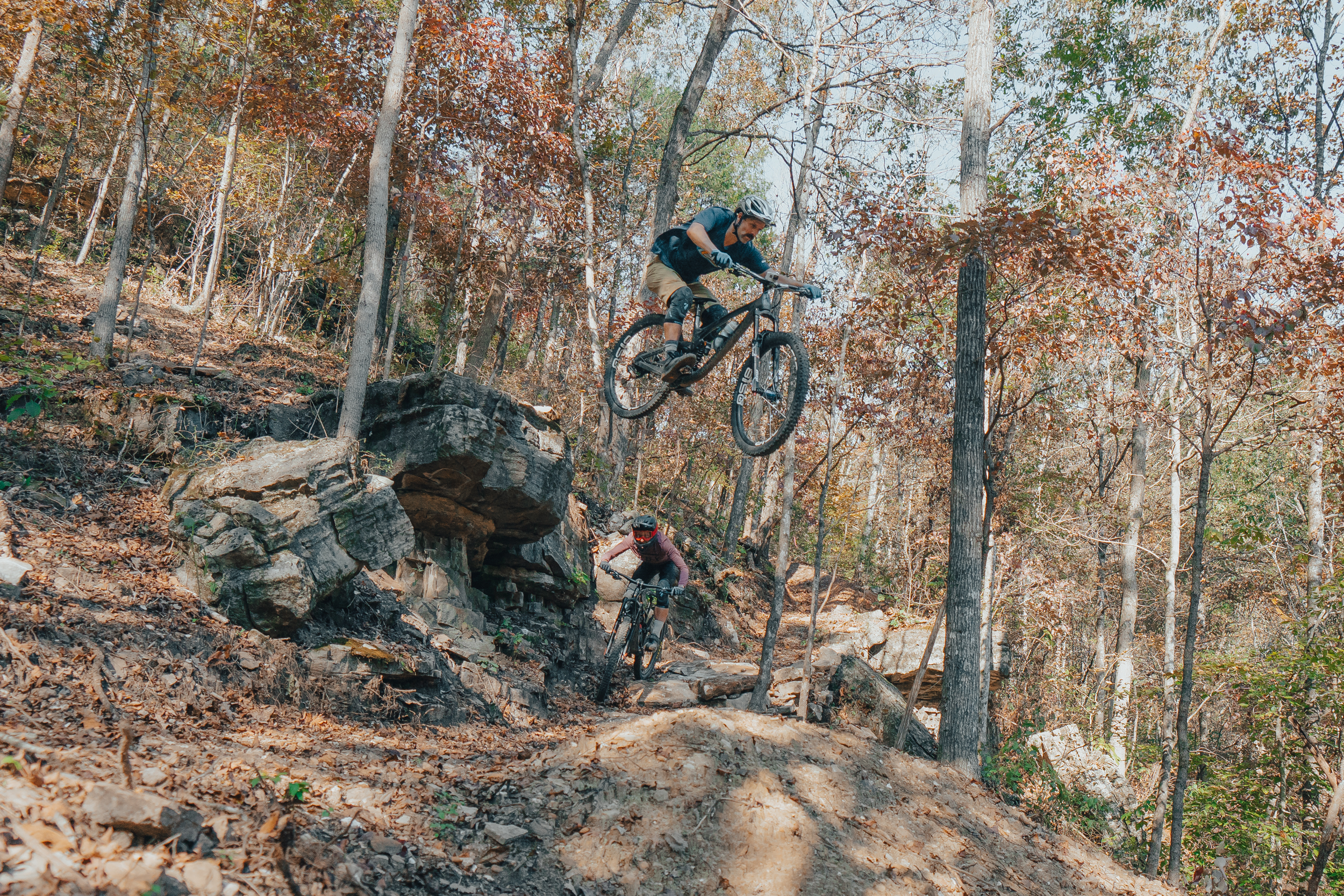Skull Cracker Jump on Mountain Bike Trail