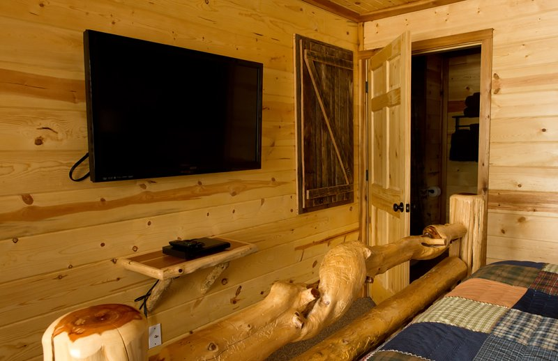 Each bedroom is equipped with a flat-screen TV with DVD player.  (Cable reception not available.)