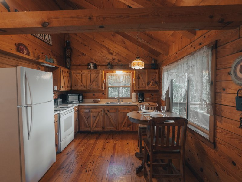 For your meal prep convenience, the cabin's kitchen is fully furnished.