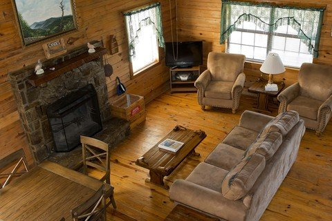 Another view of the cabin's living area