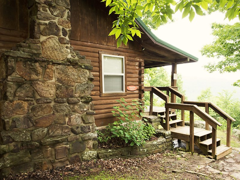 You'll love the woodland setting that surrounds the Mountain Sunrise cabin.
