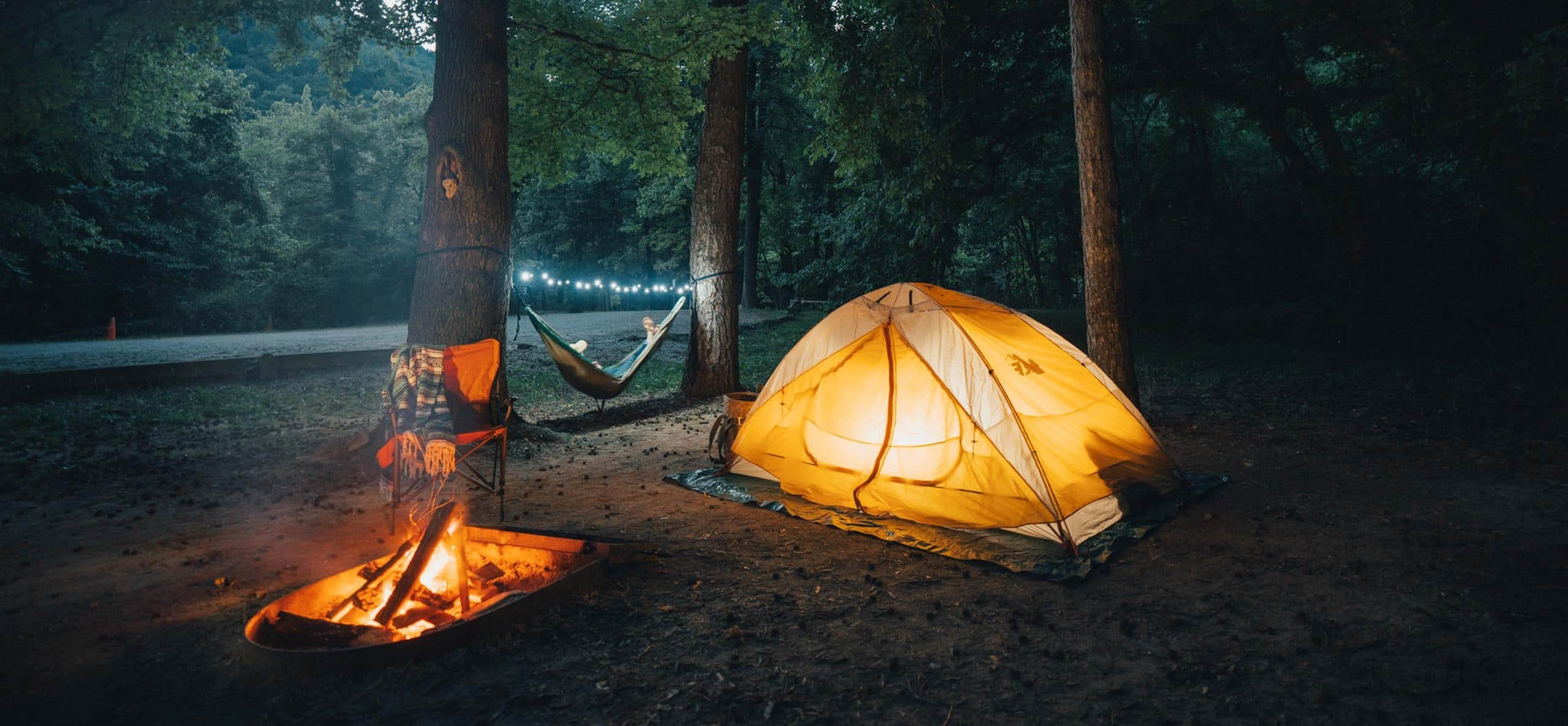 camping tent at kyles landing