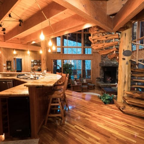 A view of the lodge's cooking and lounging area