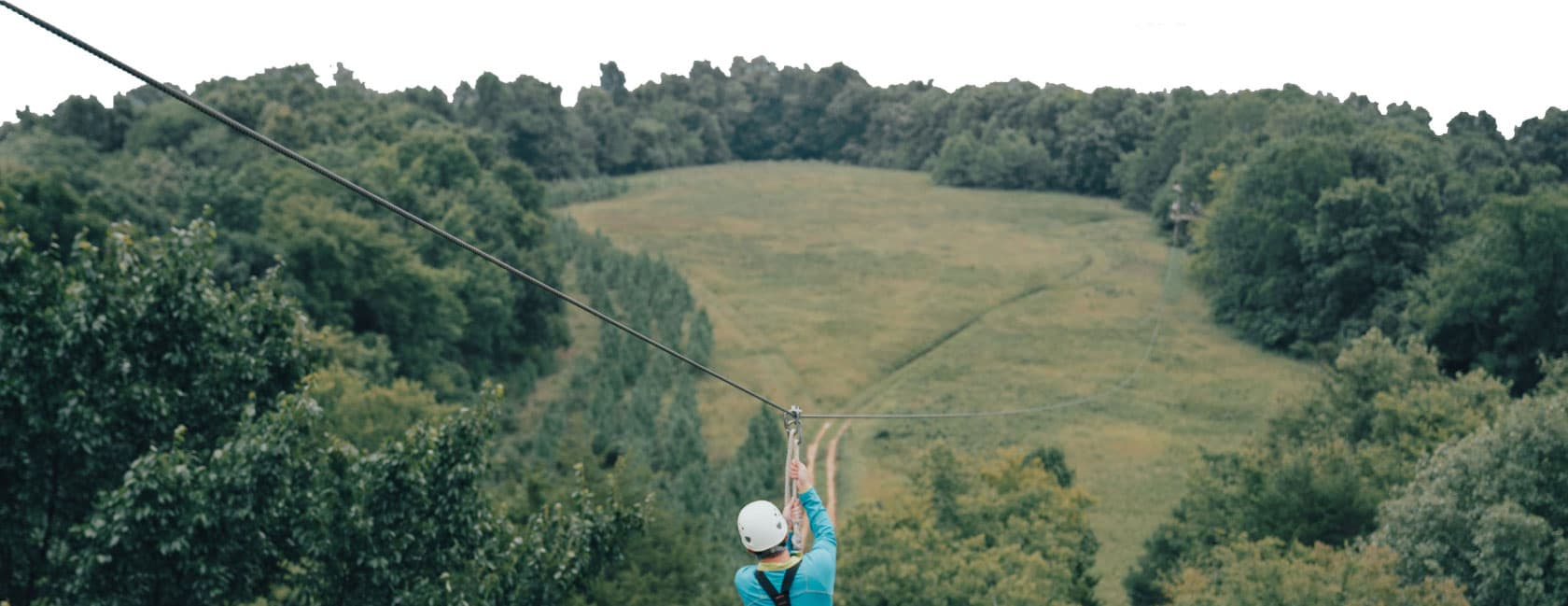 guest on the zip line
