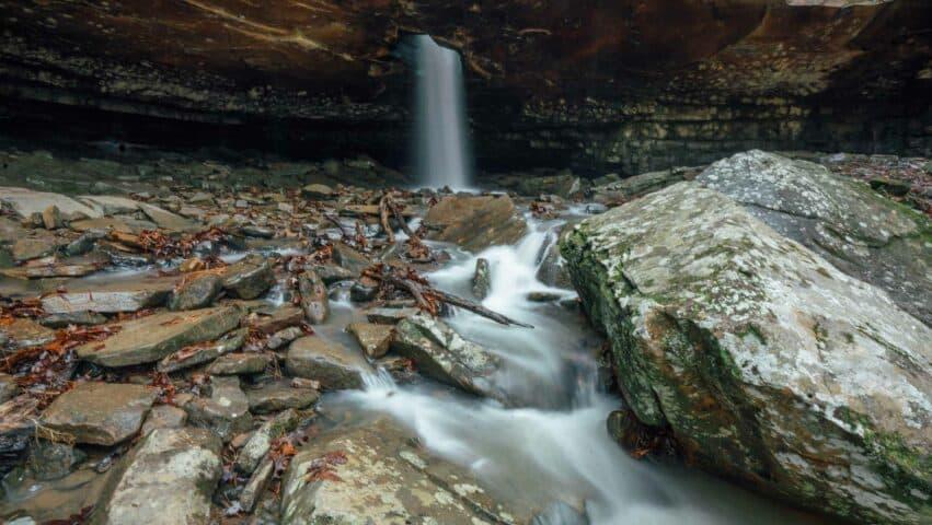 View of Glory Hole Falls along Dismal Creek.