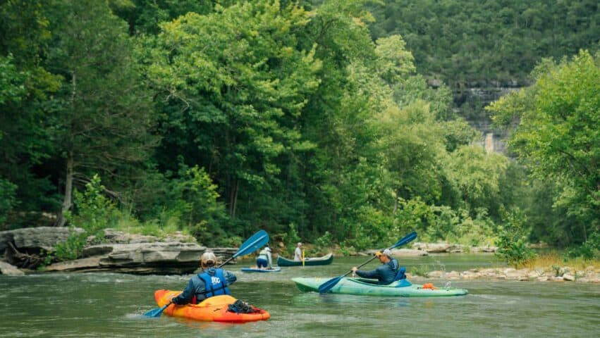 Float trips on the upper Buffalo National River is the chance to experience the finest river scenery in Arkansas.