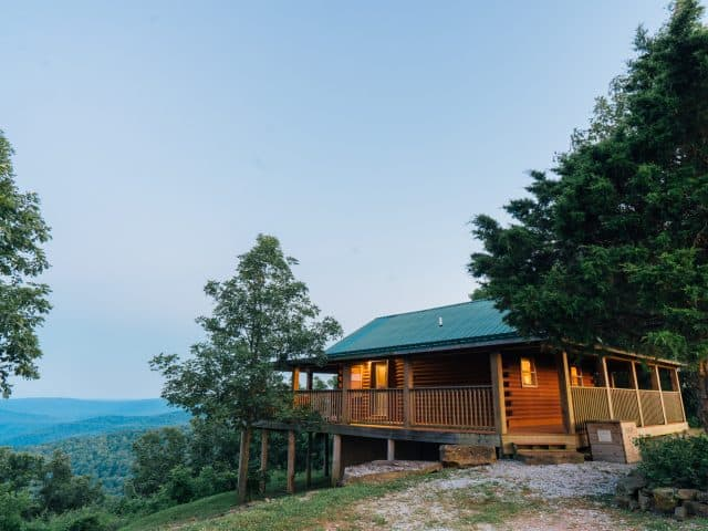 Escape to Arkansas's most romantic cabin---Cabin X, overlooking 30 miles of upper Buffalo River wilderness.