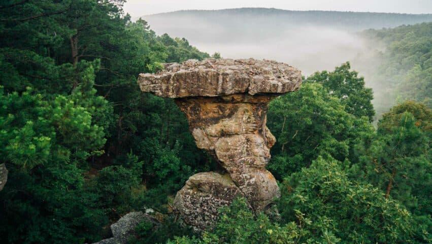 The famous Pedestal at Pedestal Rocks Scenic Area.