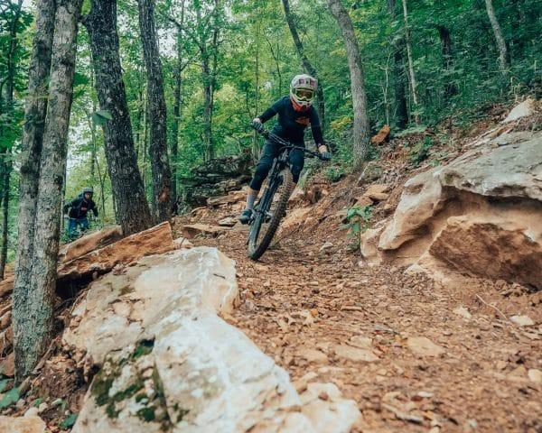 Mountain Bike riders on The BOC Ponca Downhill MTB Trail