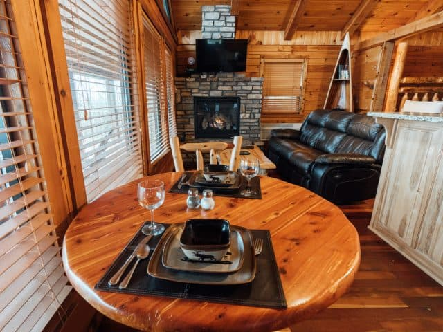 A room with a view is yours from one end of Cabin X to the other, including from the cabin's fully-furnished kitchen.