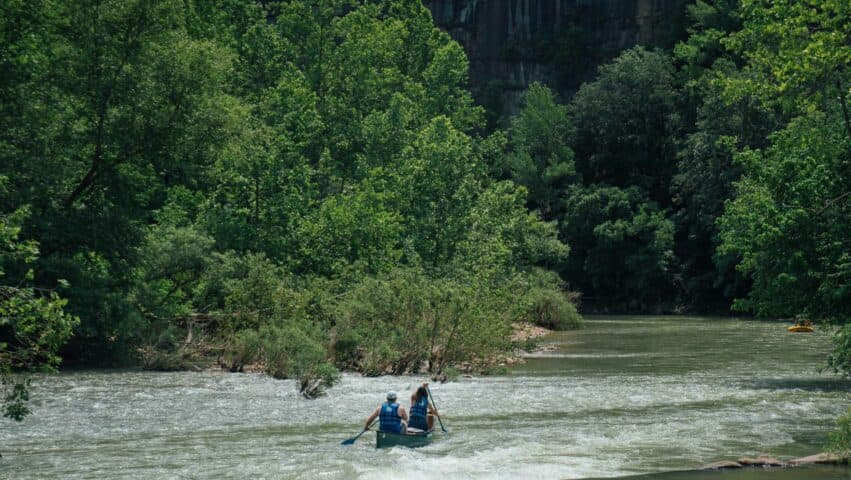 An overnight trip on the Buffalo National River is an Arkansas adventure bucket list item!