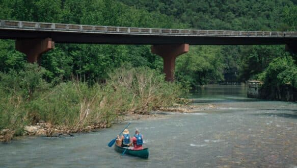Canoeing Ponca to Kyle's Landing is the best of the Buffalo National River scenery.