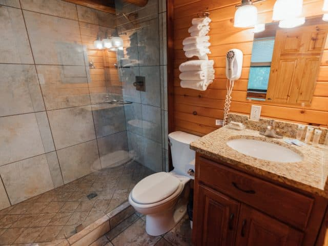 Cabin 1 features a fully-furnished modern showerbath.