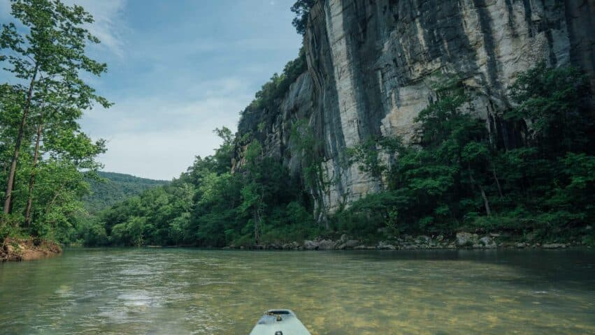 Paddle the most beautiful river scenery in Arkansas on the upper Buffalo National River.