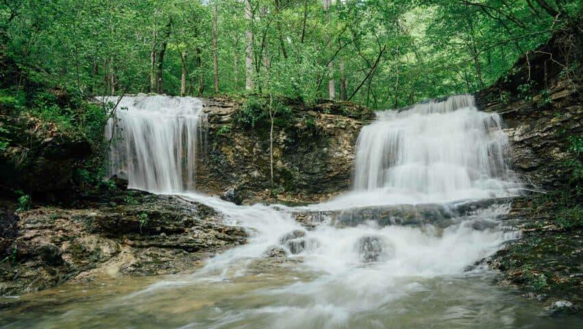 Twin Falls below Hemmed-in-Hollow.