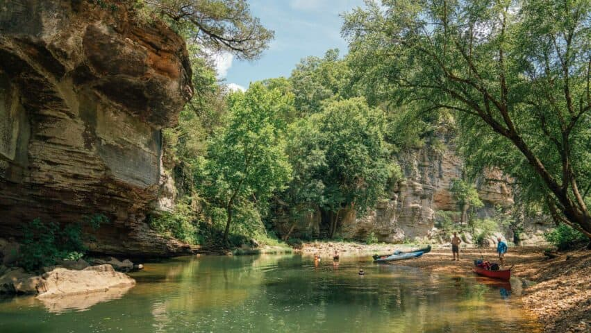 This section of the Buffalo National River offers good fishing and some of Arkansas's best float trip scenery.