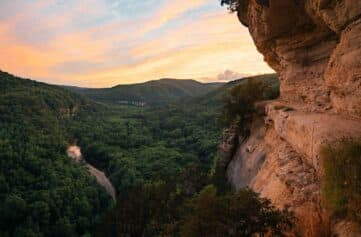Sunset view from the Goat Trail.
