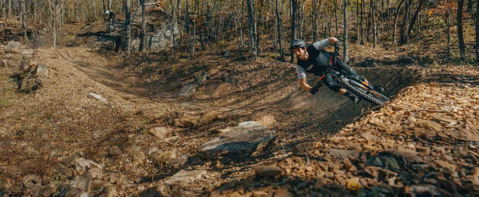 Mountain biking in the fall