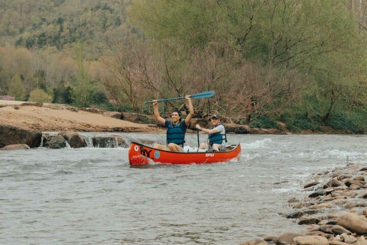 Kayaking the upper Buffalo National River.