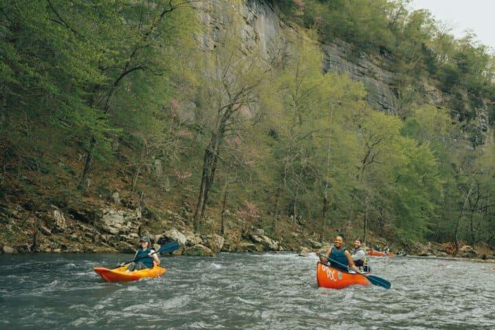 Kayaking on the upper Buffalo National River.