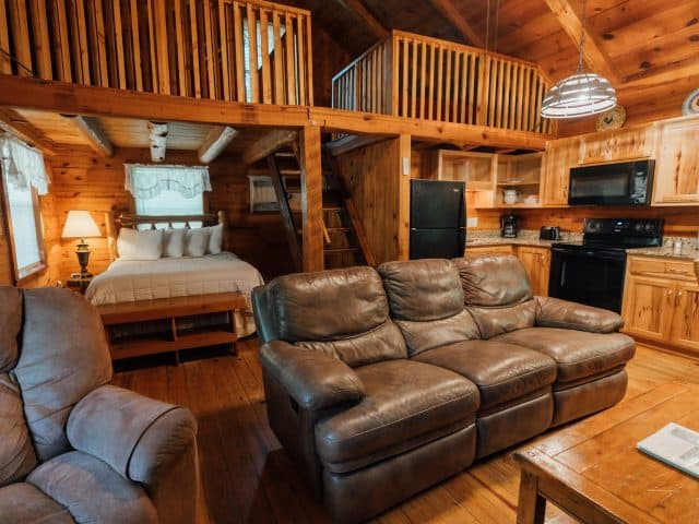 Treat your family or friends to the cozy comfort of Cabin 1, including a woodburning fireplace!