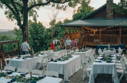 celebrating a summer wedding outside