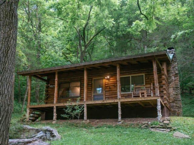 exterior of Valley Secret Cabin