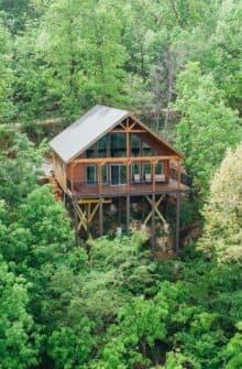 A treetop cabin at the Buffalo Outdoor Center