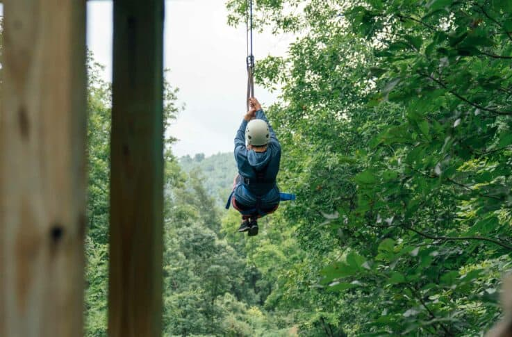 A view from the platform along the Buffalo River Canopy Tour.