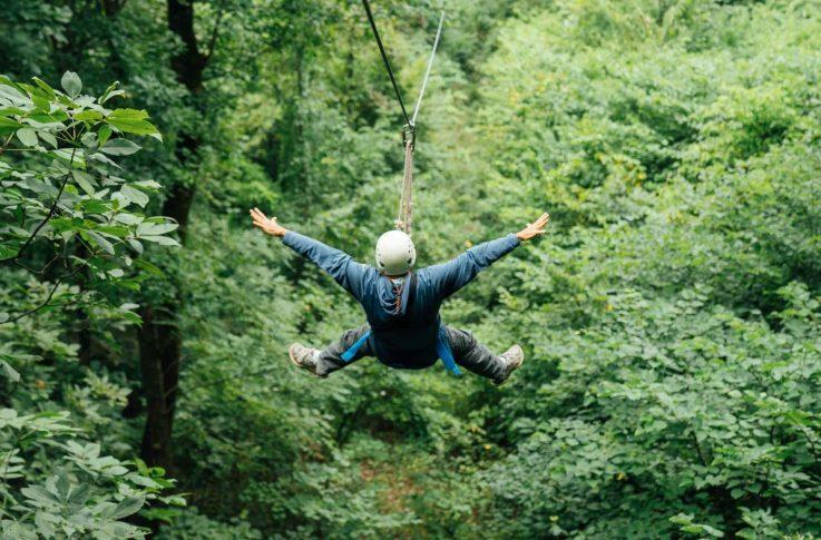 Fly like a bird on BOC's zipline, Arkansas's only wilderness zipline adventure!.