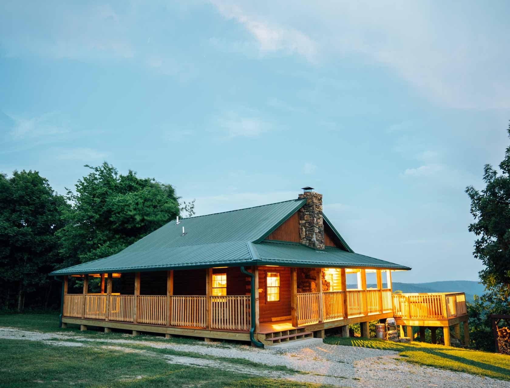 The Buffalo River Cabin overlooks the finest scenery in Arkansas.
