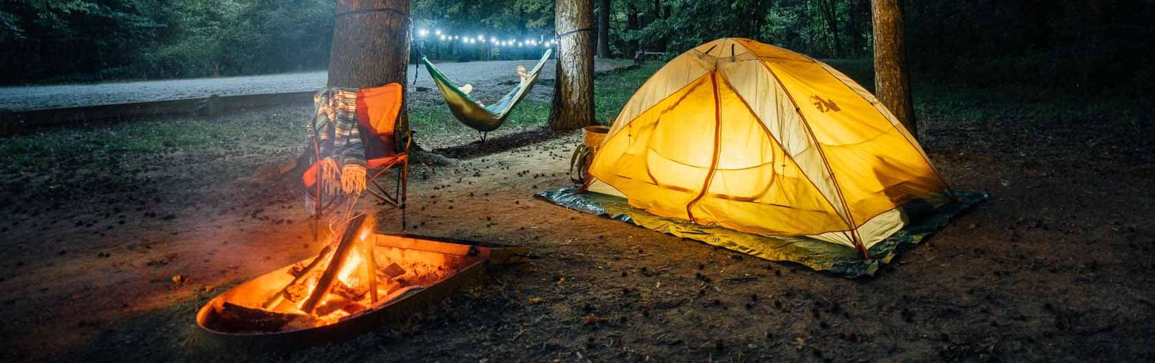 Camper at Kyles Landing campground.