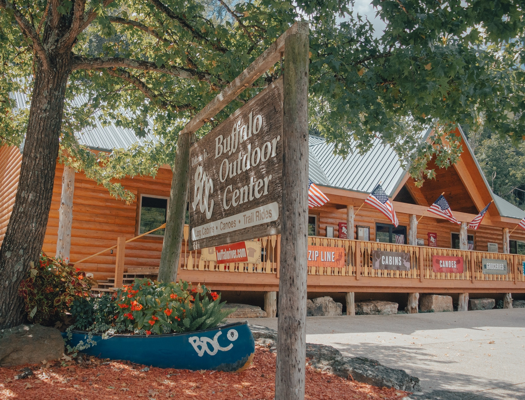 The Buffalo Outdoor Center Store in Ponca, Arkansas.