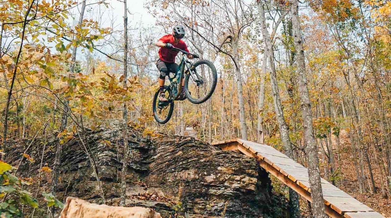 biker getting air