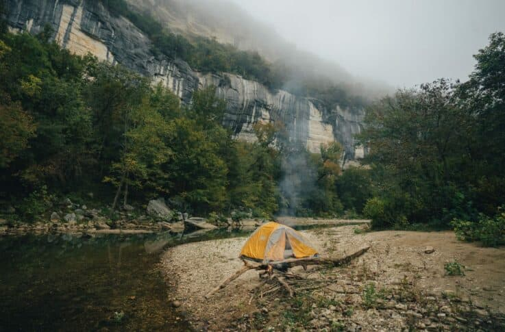 camping at big bluff