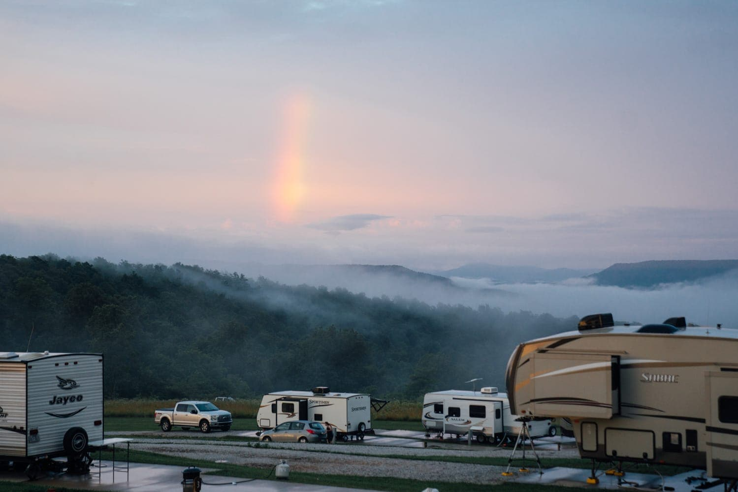 Enjoy beautiful skies at your RV's doorstep in our RV campground.