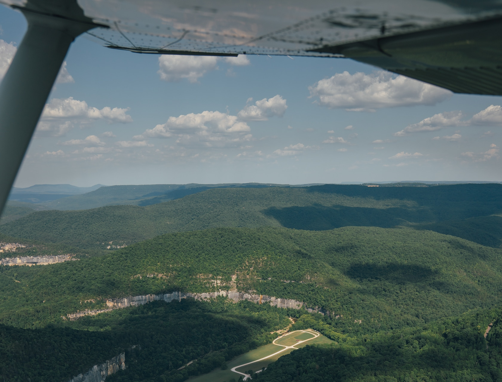The view over Steel Creek while coming in for a landing at The BOC Captain's Quarters