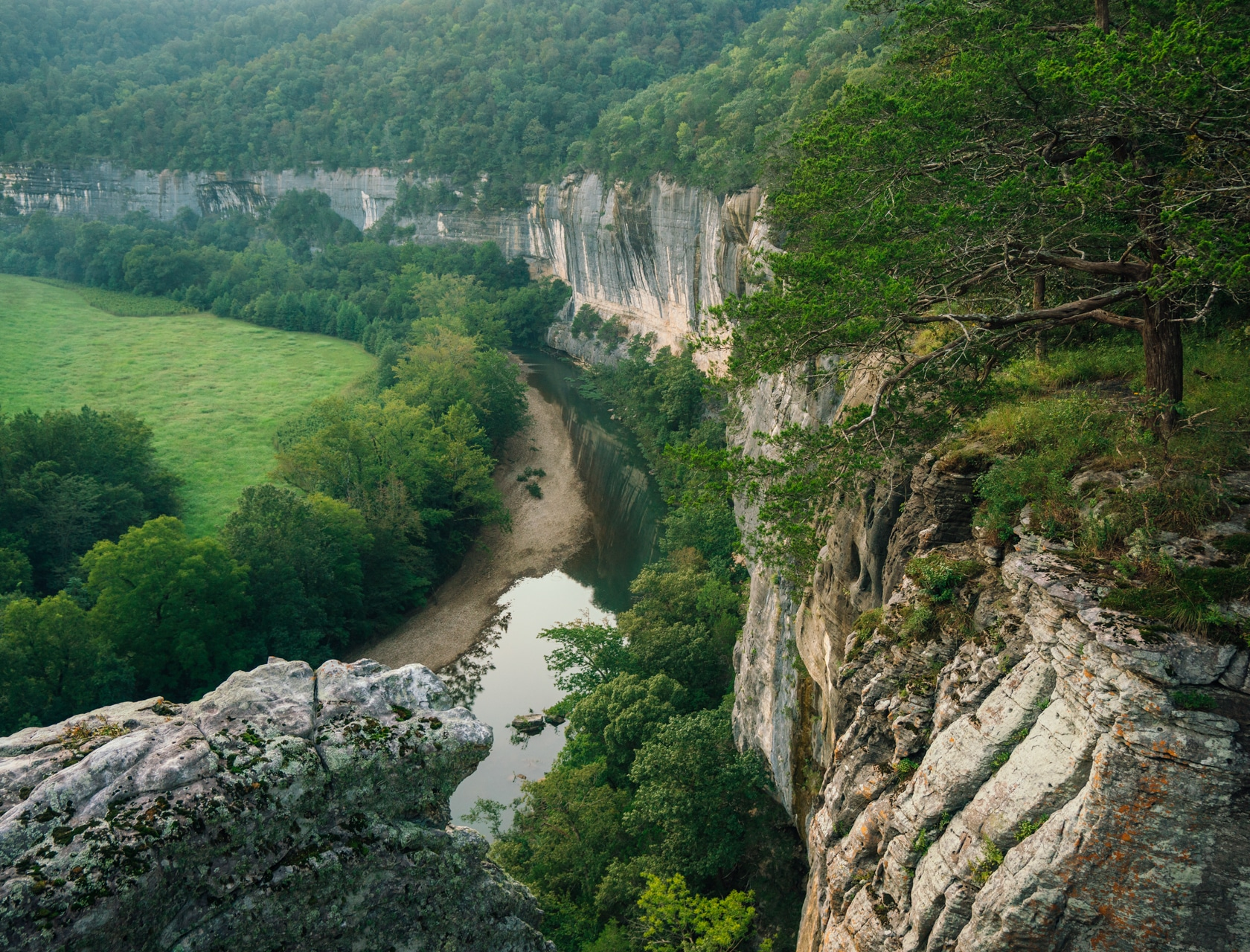 View over Buffalo River from Roark Bluff.