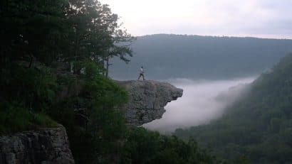 Hiker on Whitaker Point