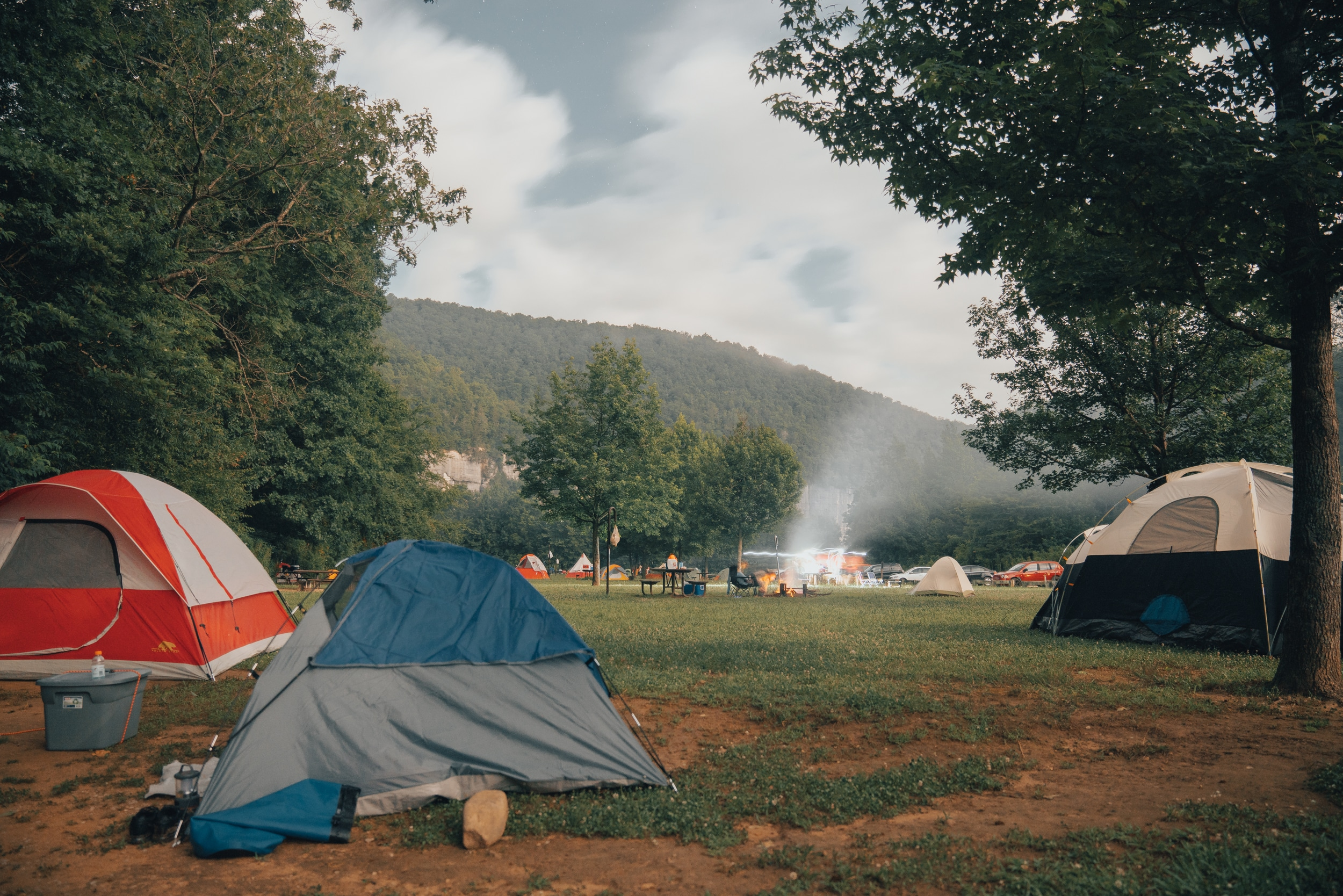 Camping at Steel Creek Campground