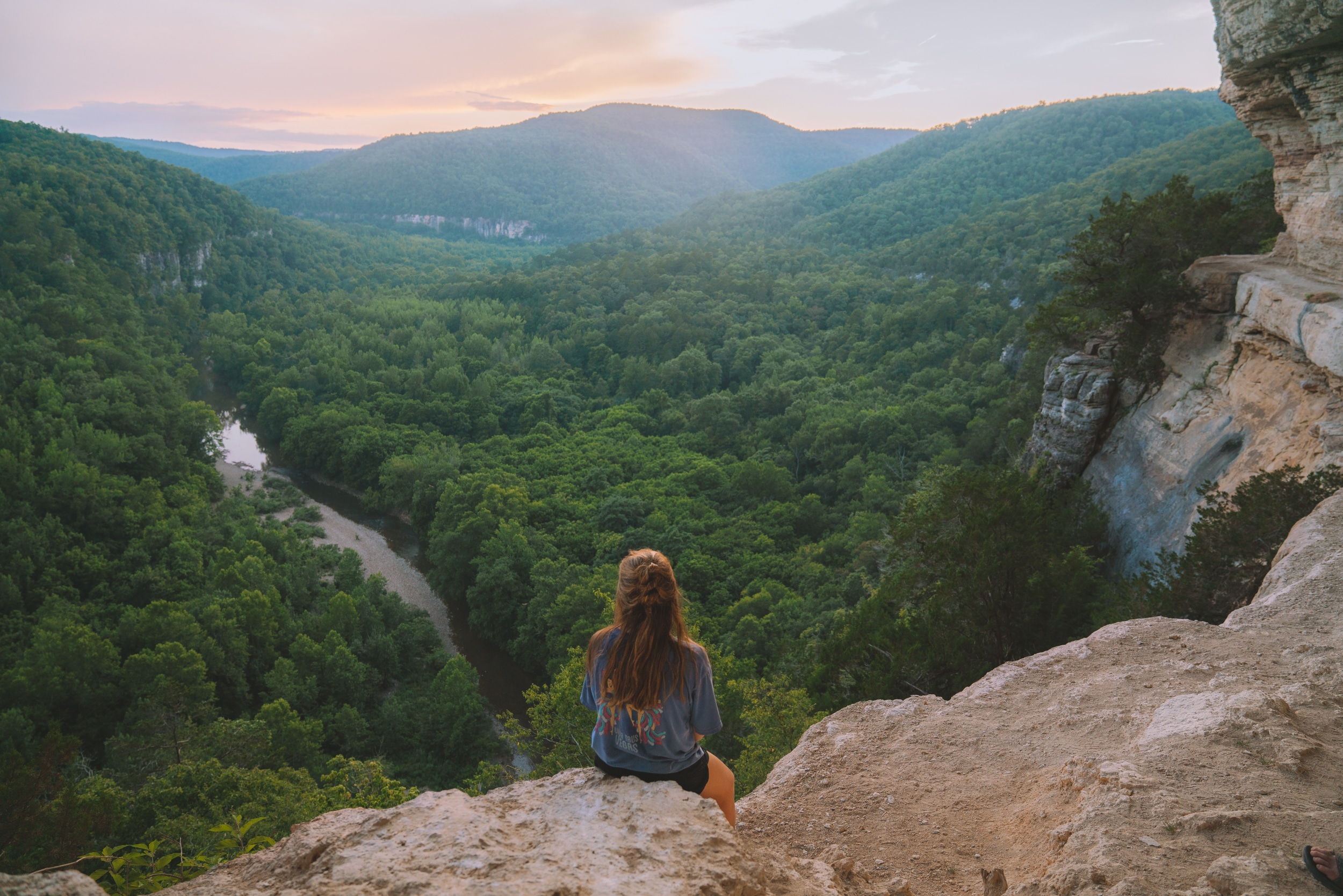 Sunset on Big Bluff along the Goat trail above the Buffalo River