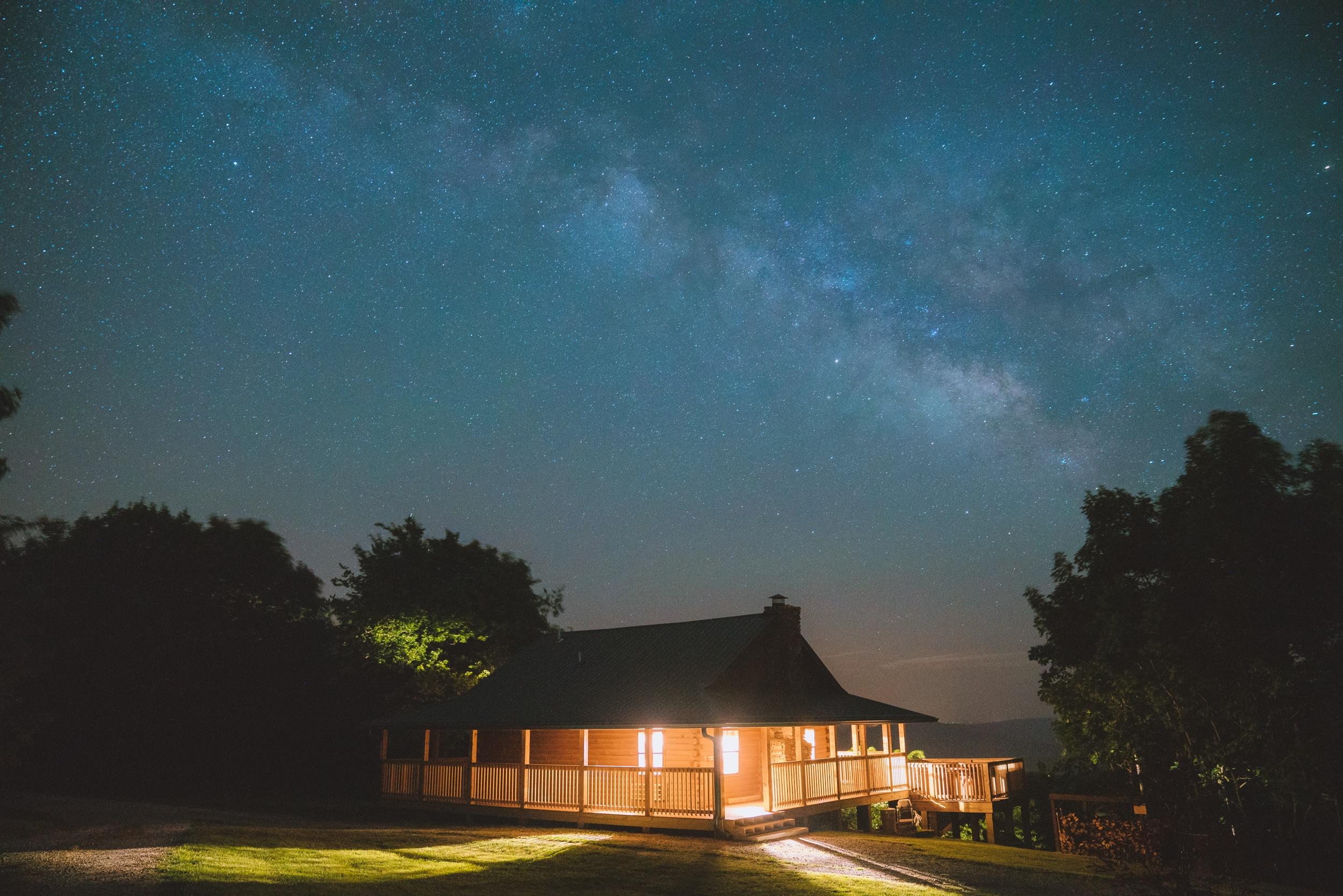 Milky way at dark sky resort