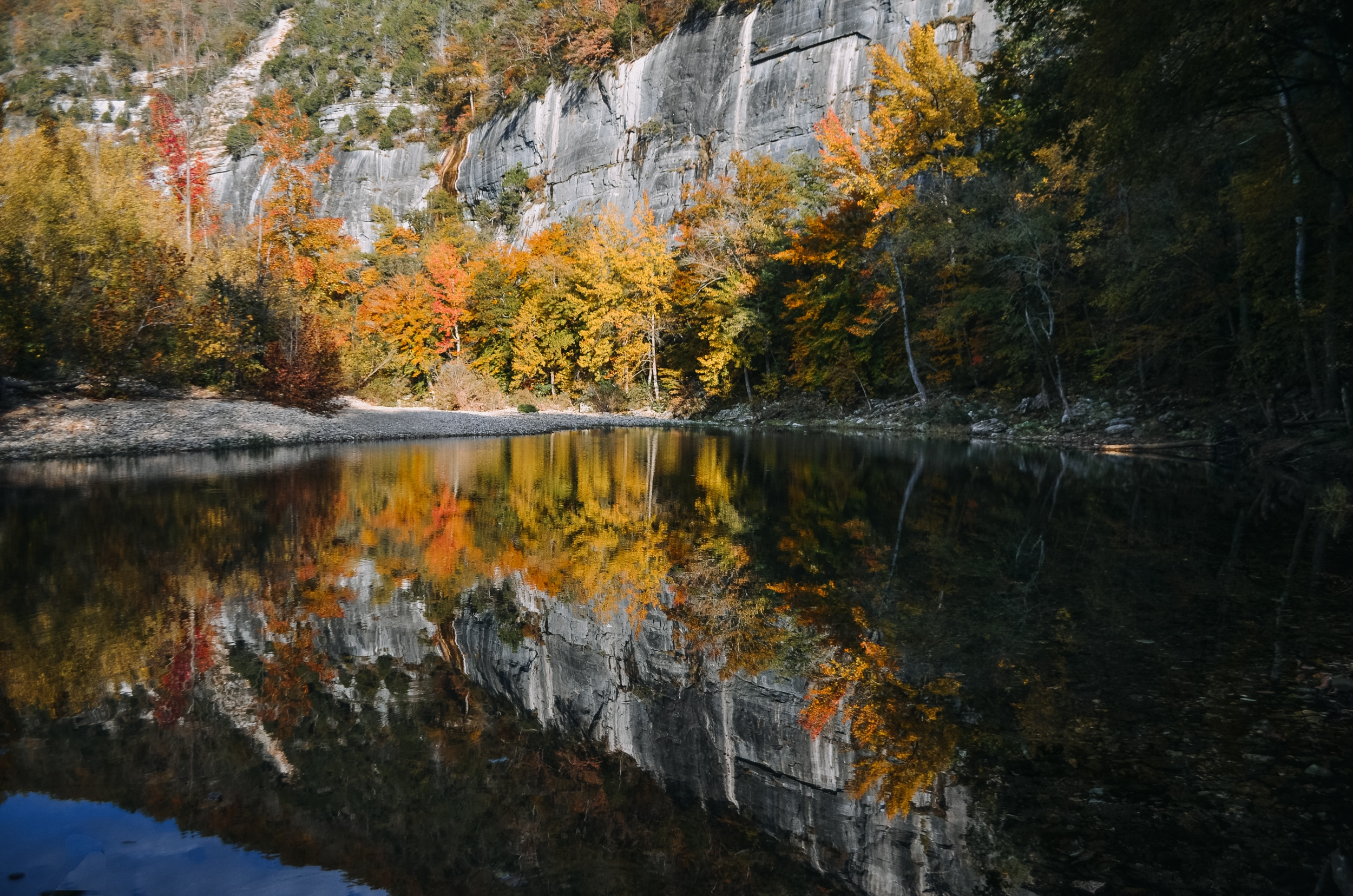 Buffalo River foliage and the reflection in the water