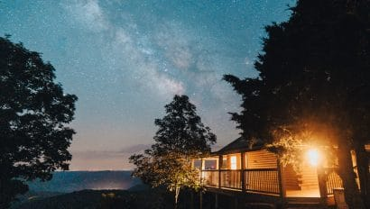 Milky Way over Cabin X