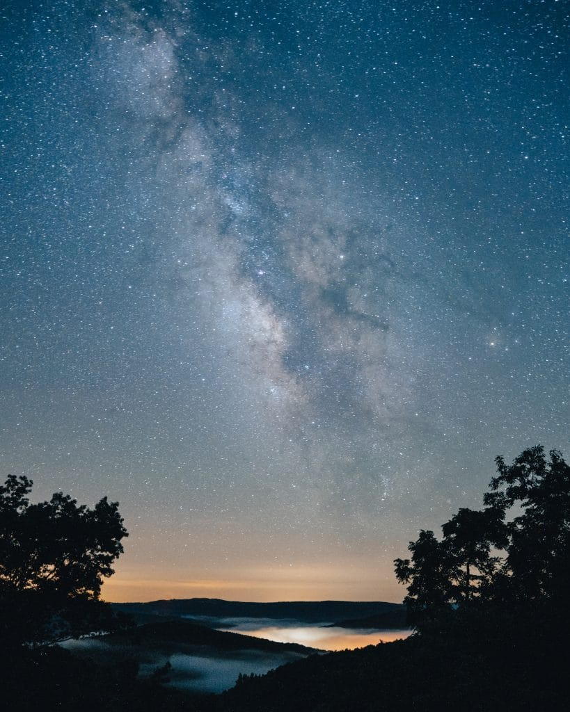 Milky Way over Ponca on a Foggy evening
