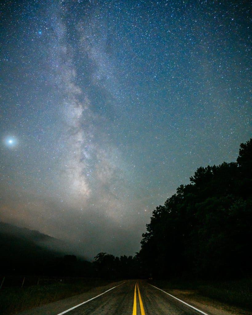 Milky Way over Highway 43
